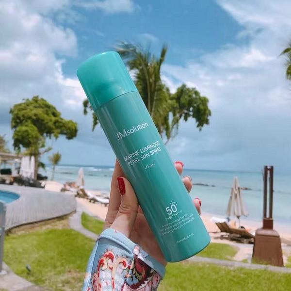 [HOT] Xịt Chống Nắng Chiết Xuất Ngọc Trai Jm Solution Marine Luminous Pearl Sun Spray SPF 50+/PA +++