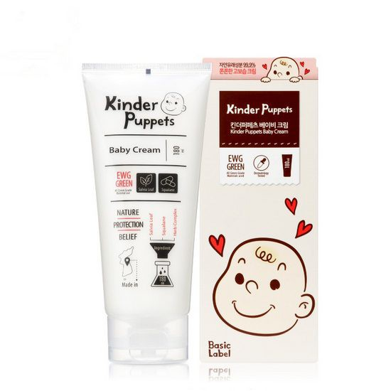 Kem Dưỡng Ẩm Cho Da Em Bé Chiết Xuất Thảo Dược Tự Nhiên Kinder Puppets Baby Cream