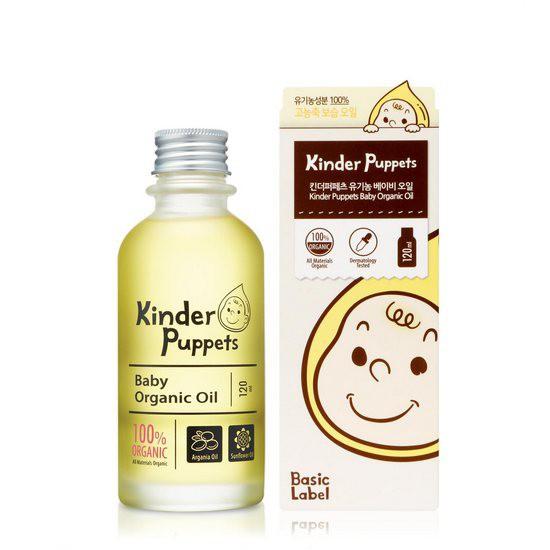 Tinh Dầu Hữu Cơ Dưỡng Ẩm Da Dành Cho Em Bé Kinder Puppets Baby Organic Oil 120ml