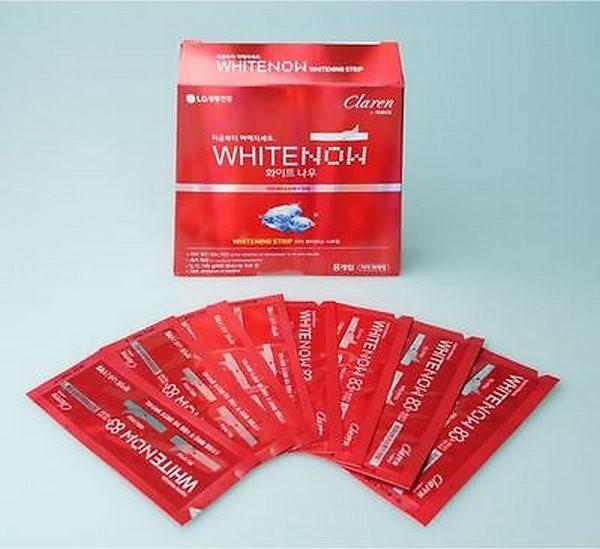 Hộp Miếng Dán Trắng Răng LG Claren White Now Strip Mint Scent
