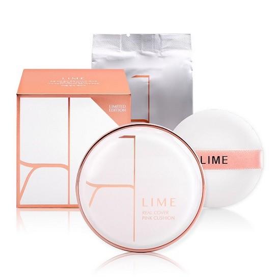Bộ Phấn Nước Kiềm Dầu Lime Real Cover Pink Cushion Set SPF50+ PA+++