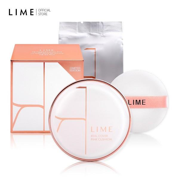 Phấn Nước Kiềm Dầu Lime Real Cover Pink Cushion Set SPF50+ PA+++