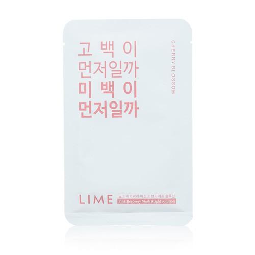 Mặt Nạ Dưỡng Sáng Da Chiết Xuất Hoa Anh Đào Lime Pink Recovery Mask Bright Solution 25ml