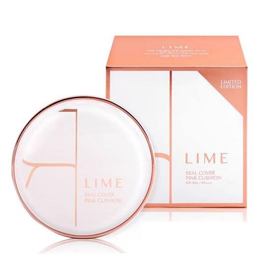 Phấn Nước Kiềm Dầu Lime Real Cover Pink Cushion SPF50+ PA+++ (Old Design)