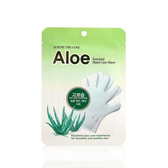 Bao Tay Dưỡng Ẩm Thần Kì LS Cosmetics The Cure Aloe Essential Hand Care Sheet