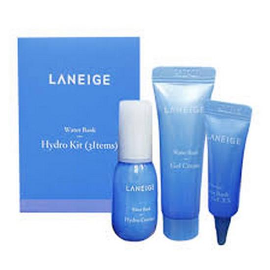 Bộ Dưỡng Da Cấp Ẩm Laneige Water Bank Hydro Kit 3 Items - Dùng thử