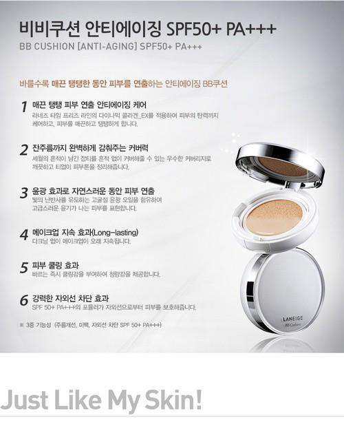 Phấn Nước Chống Lão Hóa Và Sáng Da Laneige BB Cushion Anti-Aging SPF50+