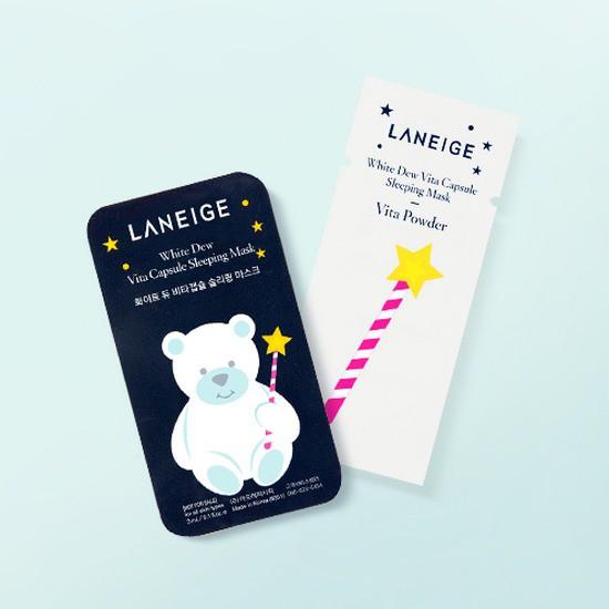 [NEW] Viên Mặt Nạ Ngủ Dưỡng Trắng Da Gấu Con Lanegie White Dew Vita Capsule Sleeping Mask