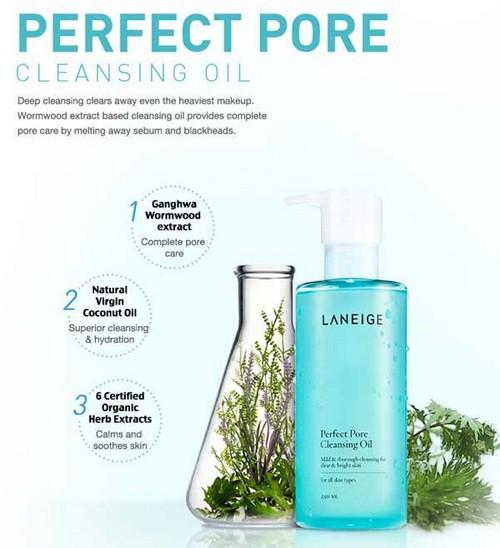 Dầu Tẩy Trang Làm Sạch Lỗ Chân Lông Laneige Perfect Pore Cleansing Oil 250ml