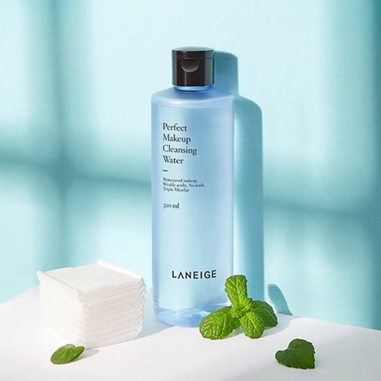 Review Nước Tẩy Trang Dưỡng Ẩm Và Làm Sạch Sâu Laneige Perfect Makeup Cleansing Water 320ml