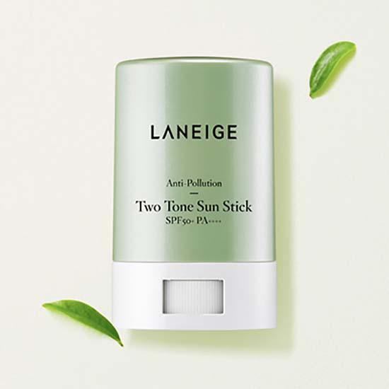 Chống Nắng Dạng Sáp Hai Màu Laneige Anti – Pollution Two Tone Sun Stick SPF50+ PA++++ 18g