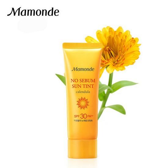 Kem Chống Nắng Dưỡng Ẩm Và Kiềm Dầu Mamonde No Sebum Sun Tint Calendula SPF30+ PA+++