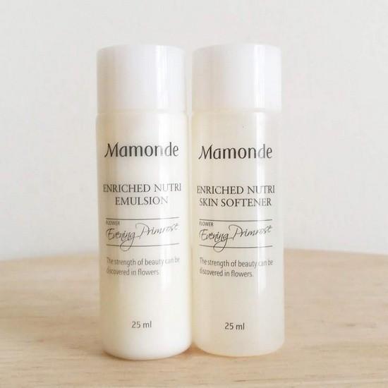 Bộ Dưỡng Ẩm Da Dùng Thử Mamonde Enriched Nutri Set (2 sản phẩm)