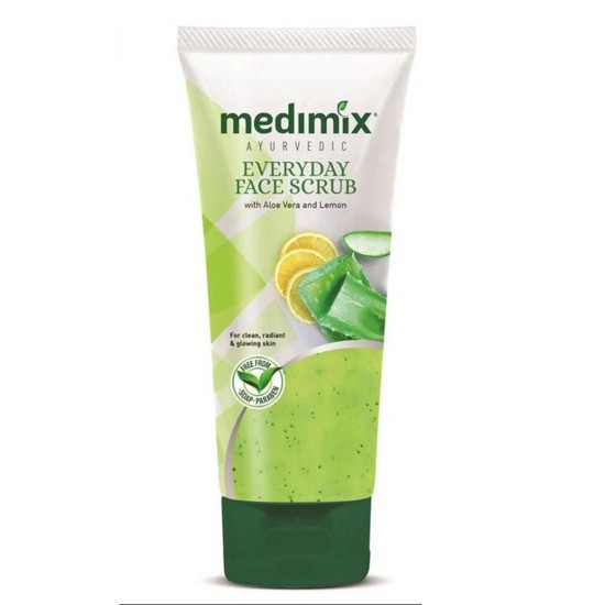 Sữa Rửa Mặt Dưỡng Ẩm Và Làm Sáng Da Medimix Ayurvedic Everyday Face Scrub With Aloe Vera & Lemon 50ml