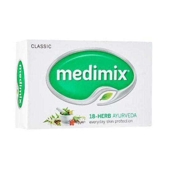 Xà Phòng Thảo Dược Trị Mụn Medimix Traditional 18 Herbs Soap New Packaging 75g