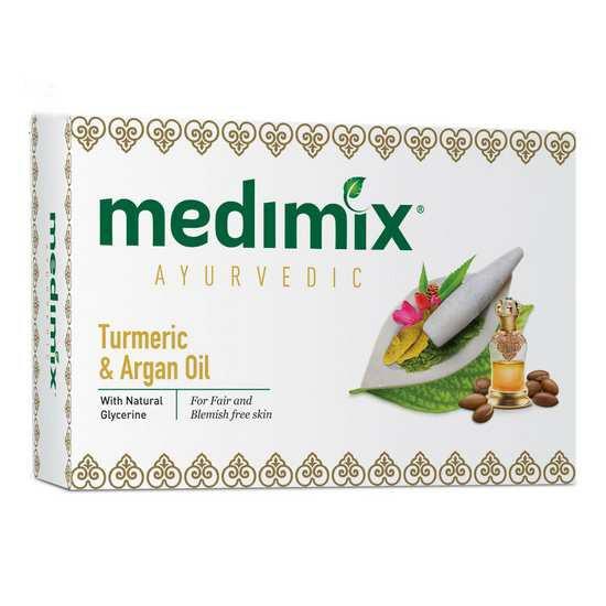 Xà Phòng Trị Mụn Và Thâm Chiết Xuất Nghệ Và Dầu Argan Medimix Turmeric & Argan Soap 125g