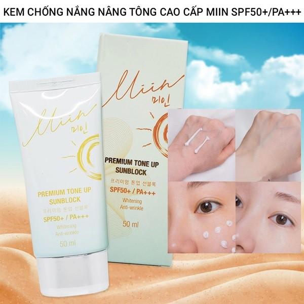 Kem Chống Nắng Nâng Tông Da Tự Nhiên Miin Premium Tone Up Sunblock SPF50+ PA+++