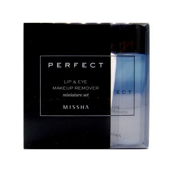 Bộ Nước Tẩy Trang Missha Perfect Lip & Eye Makeup Remover Miniature Set Sample Dùng Thử  (2 sản phẩm)