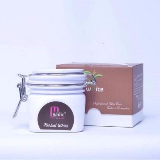 Kem Ủ Dưỡng Trắng Da Toàn Thân Từ Thảo Mộc Mwhite Herbal White Body Cream (Tặng Kèm Ủ Trắng Dâu Tây)