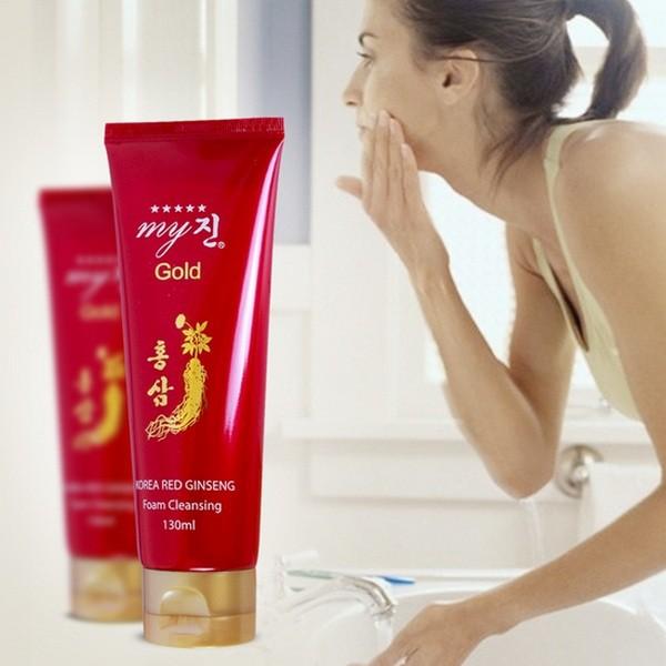 Sữa Rửa Mặt Hồng Sâm Đỏ My Gold Korea Red Ginseng Foam Cleansing 130ml