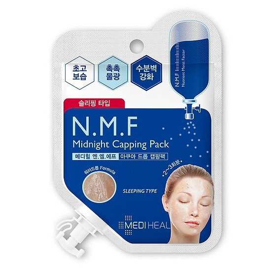 [Đồng giá 11K] Mặt Nạ Ngủ Cấp Ẩm Cho Da Mediheal N.M.F Midnight Capping Pack 15ml