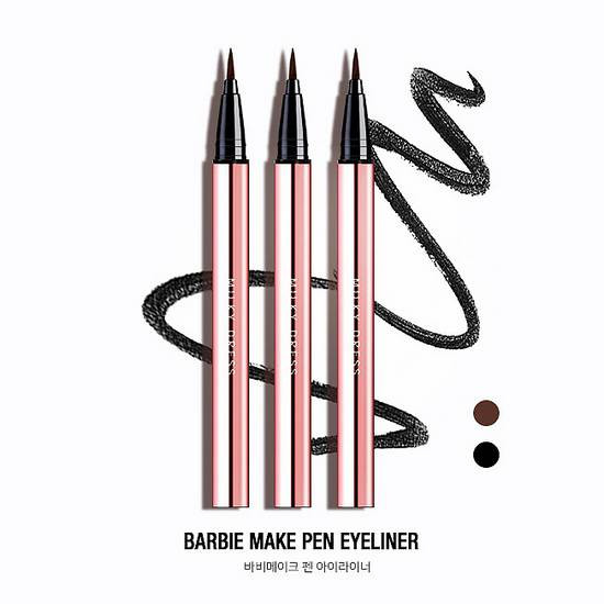 [HOT] Bút Kẻ Mắt Nước Milky Dress Barbie Make Brush Pen Eyeliner