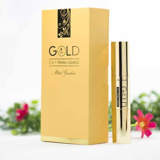 Son Nhung Lì 2 Đầu Kết Hợp Bền Màu đến 8 Giờ Mini Garden Gold 2 In 1 Matte Lipstick