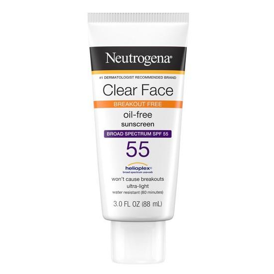 Kem Chống Nắng Neutrogena Clear Face Liquid Lotion Sunscreen Broad Spectrum SPF 55 (88ml)