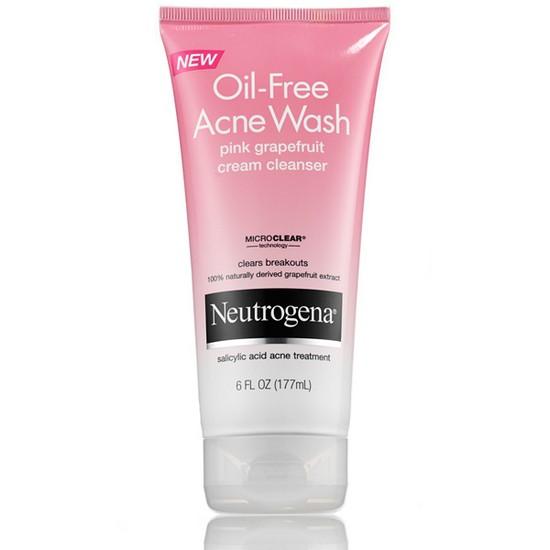 Sữa Rửa Mặt Trị Mụn Hương Bưởi Hồng Neutrogena Oil-Free Acne Wash Pink Grapefruit Cream Cleanser 177ml