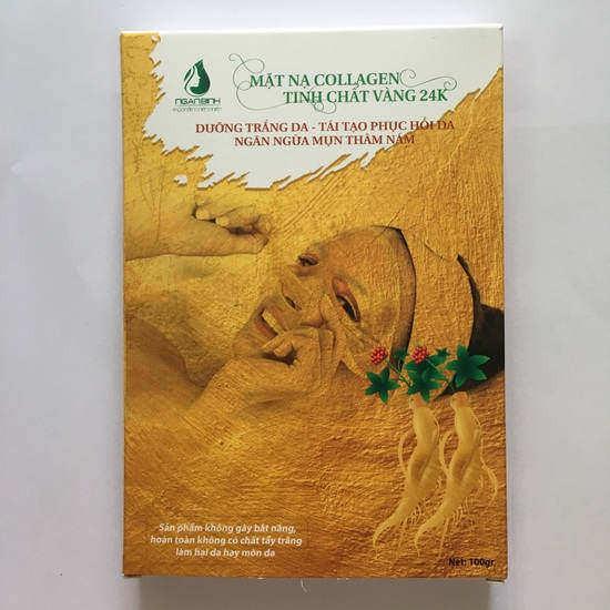 Combo 3 Hộp Mặt nạ Collagen Tươi Nhân Sâm Vàng 24K Dưỡng Trắng Da Và Phục Hồi Da Ngân Bình