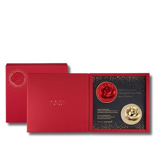 Set Phấn Nước Phiên Bản Giới Hạn Dành Riêng Cho Noel Ohui Ultimate Cover Cushion Moisture (Red And Gold Rose Petal Edition)