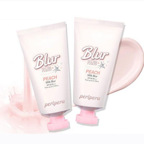 Kem Lót Sáng Mịn Da Tức Thời Peripera Blur Pang Peach Milk Blur (Chiết Xuất Đào)