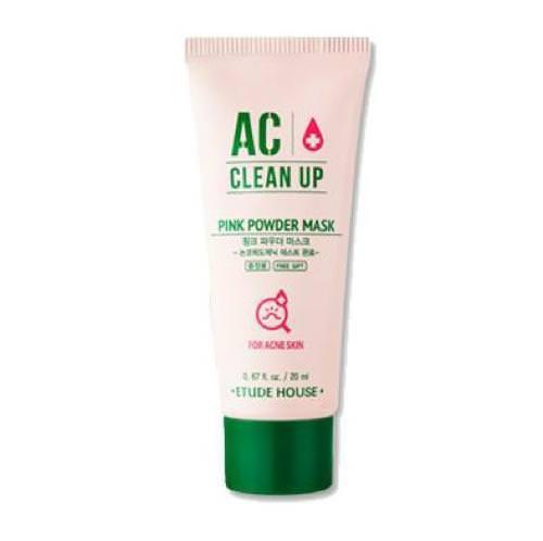Mặt Nạ Trị Mụn Etude House AC Clean Up Pink Powder Mask - 20ml (Dùng Thử)