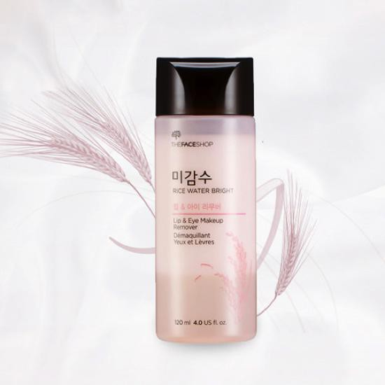 Nước Tẩy Trang Mắt Môi The Face Shop Rice Water Bright Lip & Eye Makeup Remover 120ml