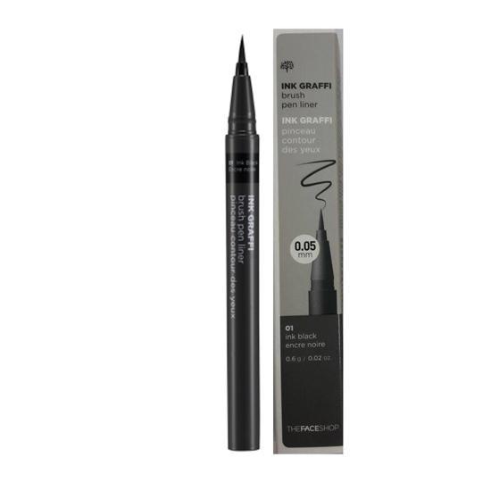 Bút Lông Kẻ Mắt Không Trôi Siêu Mảnh The Face Shop Ink Graffi Brush Pen Liner