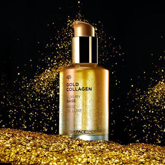 Kem Lót Cao Cấp Làm Sáng Hồng Da Và Chống Lão Hoá The Face Shop Gold Collagen Luxury Base 50ml