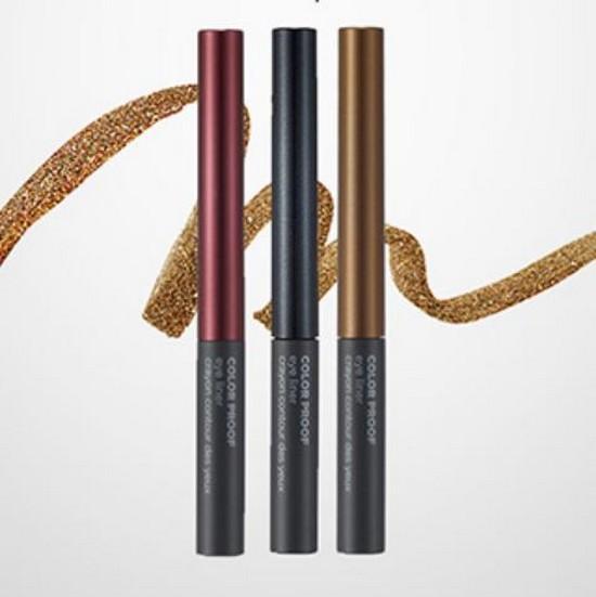 Kẻ Mắt Nước Ánh Nhũ Không Trôi The Face Shop Color Proof Eyeliner - 2g