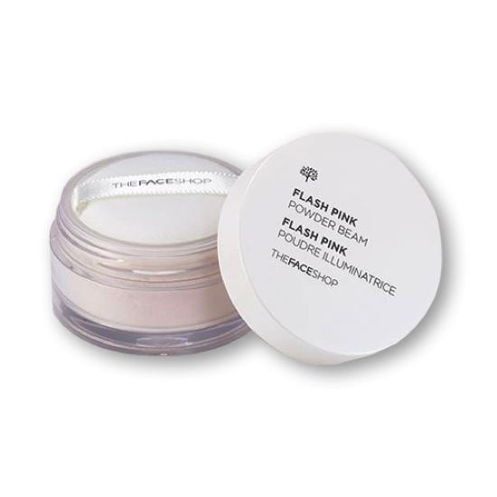 Phấn Phủ Bột Bắt Sáng The Face Shop Flash Pink Powder Beam 7g