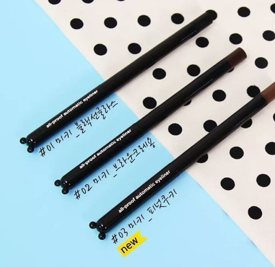 Chì Kẻ Mắt Chống Trôi The Faceshop Mickey All Proof Automatic Eyeliner