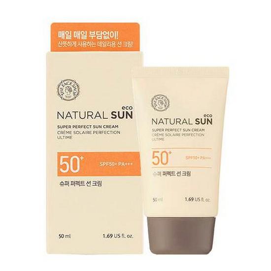 Kem Chống Nắng Kiềm Dầu The Face Shop Natural Sun Eco Oil Clear Sun Cream SPF50 PA+++ 50ml