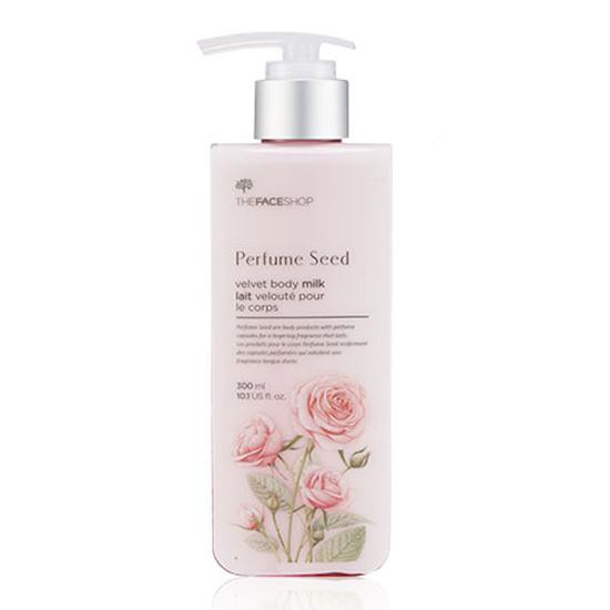 Sữa Dưỡng Thể Làm Sáng Và Mịn Da The Face Shop Perfume Seed Velvet Body Milk 300ml