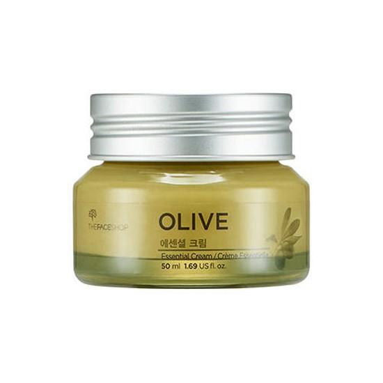Kem Dưỡng Ẩm, Sáng Da Và Chống Lão Hoá Chiết Xuất Ô-liu The Face Shop Olive Essential Cream 50ml