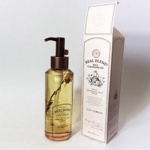 Dầu Tẩy Trang Cung Cấp Ẩm The Face Shop Real Blend Rich Cleansing Oil 225ml