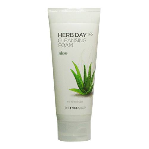 [BIG SALES] Sữa Rửa Mặt Lô Hội The Face Shop Herb Day 365 Cleansing Foam Aloe 170ml