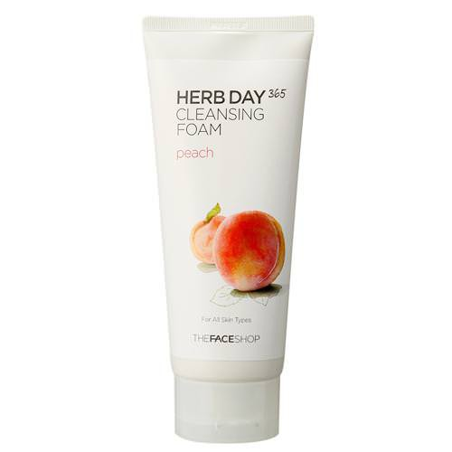 Sữa Rửa Mặt Đào The Face Shop Herb Day 365 Cleansing Foam Peach 170ml