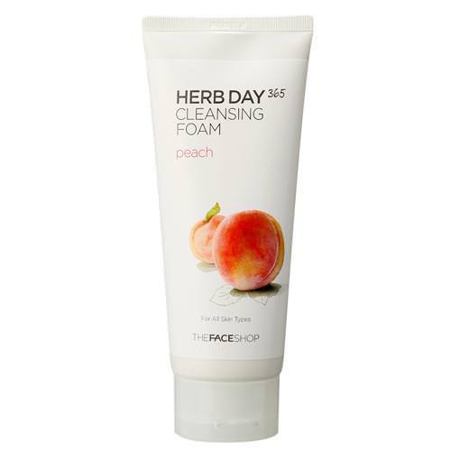 Sữa Rửa Mặt Đào The Face Shop Herb Day 365 Cleansing Foam Peach 170ml