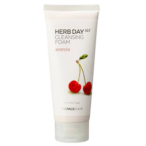 [BIG SALES] Sữa Rửa Mặt Cherry The Face Shop Herb Day 365 Cleansing Foam Acerola 170ml