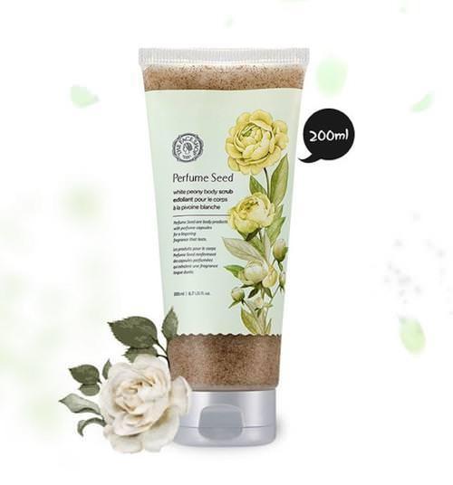 Tẩy Da Chết Trắng Da Toàn Thân The Face Shop Perfume Seed White Peony Body Scrub 200ml (Mới 2017)