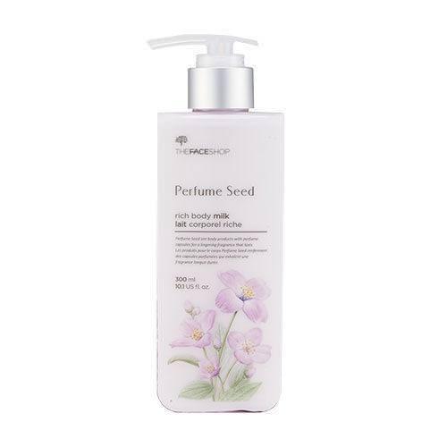Sữa Dưỡng Thể Nước Hoa Trắng Sáng Da The Face Shop Perfume Seed Rich Body Milk 300ml