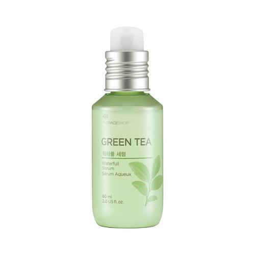 [BIG SALE] Tinh Chất Dưỡng Da Kiềm Dầu Trà Xanh The Face Shop Waterfull Green Tea Serum